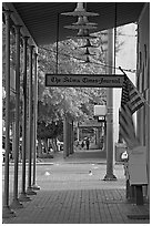Gallery in front of the Selma Times Journal building. Selma, Alabama, USA ( black and white)