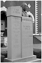Memorial to Martin Luther King at the start of the Selma-Montgomery march. Selma, Alabama, USA ( black and white)