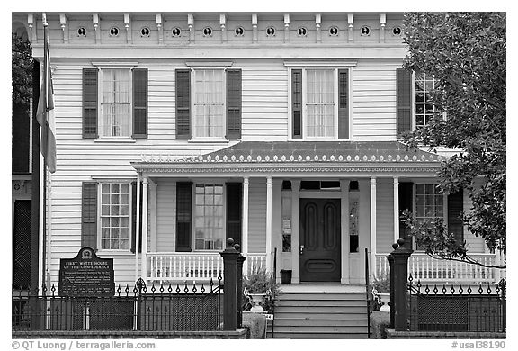 Black And White Picture/Photo: First White House Of The