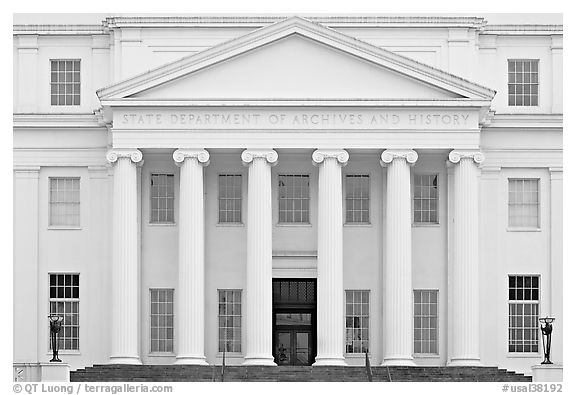 State department of archives and history. Montgomery, Alabama, USA (black and white)
