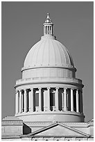 Dome of the Arkansas State Capitol. Little Rock, Arkansas, USA (black and white)