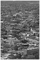 City main street seen from above. Hot Springs, Arkansas, USA ( black and white)