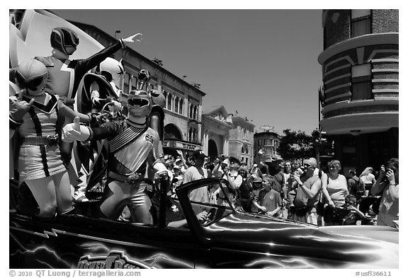 Power rangers, Magic Kingdom Theme park. Orlando, Florida, USA (black and white)