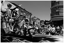 Power rangers, Magic Kingdom Theme park. Orlando, Florida, USA ( black and white)