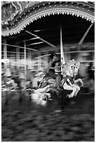 Carousel, Magic Kingdom Theme park. Orlando, Florida, USA ( black and white)