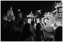 Main Street Electrical parade, Walt Disney World. Orlando, Florida, USA ( black and white)