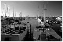 Harbor at sunset. Key West, Florida, USA (black and white)