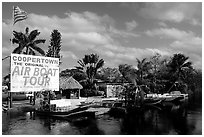 Airboats. Florida, USA ( black and white)