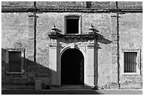 Fort Castillo de San Marcos. St Augustine, Florida, USA ( black and white)