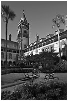 Ponce de Leon Hall, Flagler College. St Augustine, Florida, USA ( black and white)