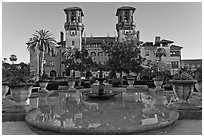 City Hall, formerly Hotel Alcazar. St Augustine, Florida, USA ( black and white)