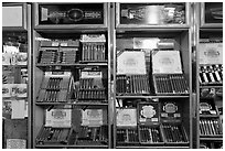 Cuban cigars for sale, Mallory Square. Key West, Florida, USA (black and white)