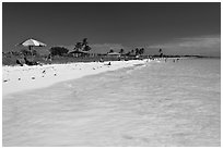 Turquoise waters, Sandspur Beach, Bahia Honda State Park. The Keys, Florida, USA (black and white)