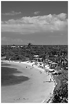 Bahia Honday Key seen above. The Keys, Florida, USA ( black and white)