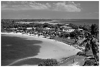Panoramic view of Bahia Honday Key and Bahia Honda State Park. The Keys, Florida, USA ( black and white)