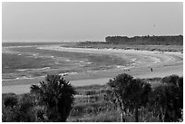 Beach at sunset, Fort De Soto Park. Florida, USA ( black and white)