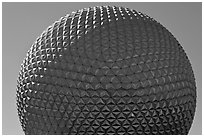 18-story geodesic sphere, Epcot theme park. Orlando, Florida, USA ( black and white)