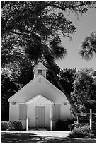 Chapel by the Sea, Captiva Island. Florida, USA ( black and white)
