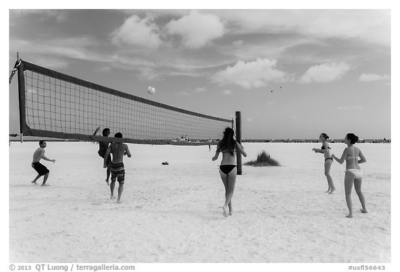 Volleyball at Siesta Beach, Sarasota. Florida, USA