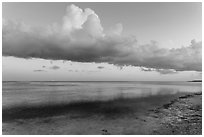 Thunderstorm clouds at sunset, Little Duck Key. The Keys, Florida, USA ( black and white)