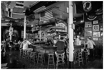 Inside Sloppy Joes. Key West, Florida, USA ( black and white)