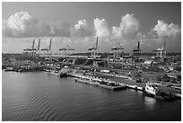 Seaport. Florida, USA ( black and white)