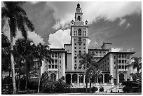 Coral Gables Biltmore Hotel. Coral Gables, Florida, USA ( black and white)