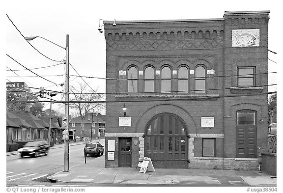 Firestation No 6, Martin Luther King National Historical Site. Atlanta, Georgia, USA (black and white)