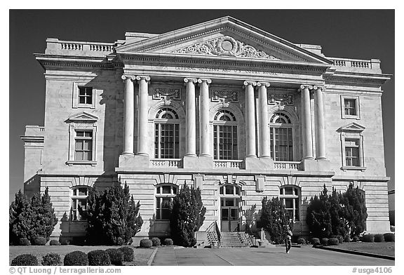 Federal building and courhouse in neo-classical style. Georgia, USA (black and white)