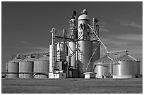 Grain elevator. Louisiana, USA ( black and white)