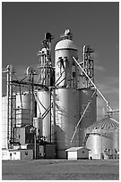 Silo. Louisiana, USA ( black and white)