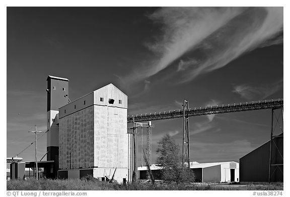 Silos. Louisiana, USA (black and white)