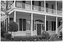 Griffith-McComas house. Natchez, Mississippi, USA ( black and white)
