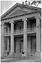 Magnolia Hall. Natchez, Mississippi, USA (black and white)