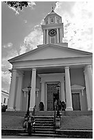 First Presbyterian Church. Natchez, Mississippi, USA ( black and white)