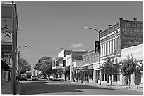 Commercial street. Natchez, Mississippi, USA ( black and white)