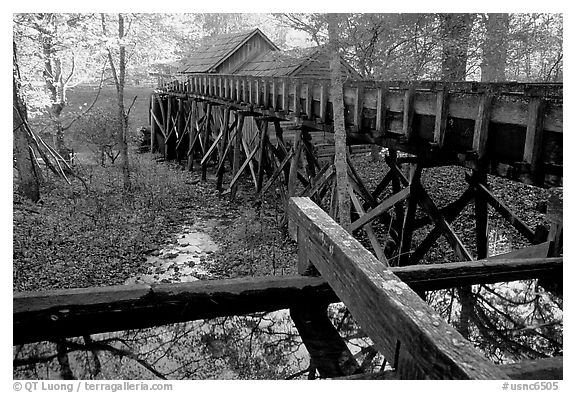 Mabry Mill, Blue Ridge Parkway. Virginia, USA (black and white)