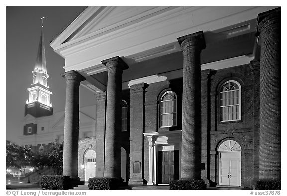 First Baptist Church, where the Confederacy was announced. Columbia, South Carolina, USA (black and white)