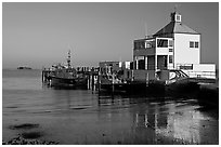 Harbor house, late afternoon. Charleston, South Carolina, USA ( black and white)