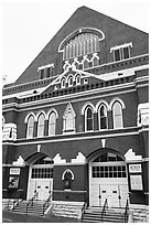 Ryman auditorium. Nashville, Tennessee, USA (black and white)