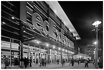 Fedex Forum by night. Memphis, Tennessee, USA (black and white)