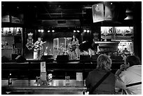 Live musical performance in Beale Street bar. Memphis, Tennessee, USA ( black and white)