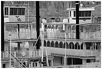 Wheelboats, Memphis. Memphis, Tennessee, USA (black and white)