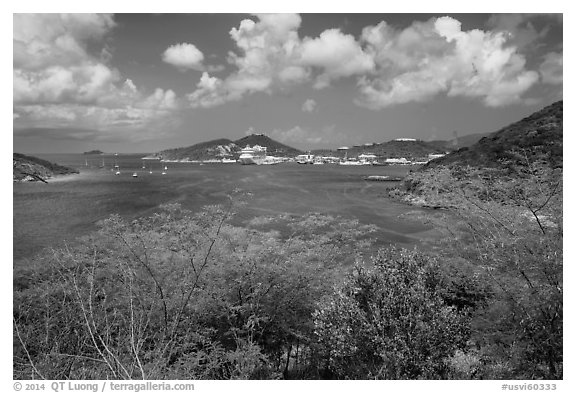 Crown Bay. Saint Thomas, US Virgin Islands (black and white)