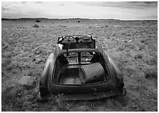 Car wreck. Arizona, USA ( black and white)