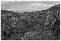 Massai Point view. Chiricahua National Monument, Arizona, USA ( black and white)