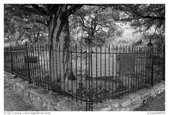 Historic pioneer cemetery. Chiricahua National Monument, Arizona, USA (black and white)