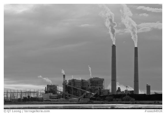 Cholla Power Plant, Joseph City. Arizona, USA (black and white)
