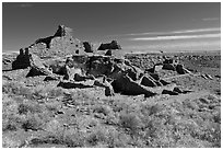 Wupatki Pueblo, Wupatki National Monument. Arizona, USA ( black and white)