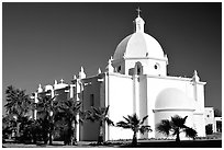 Immaculate Conception Catholic Church, Ajo. Arizona, USA ( black and white)
